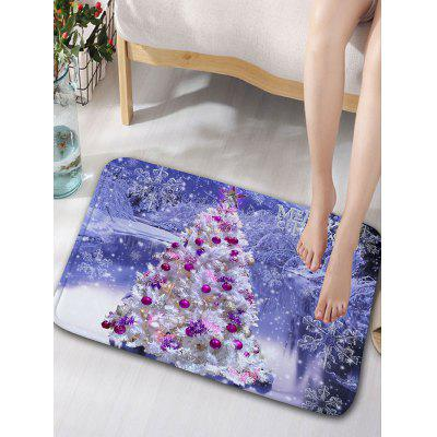 Buy Christmas Tree Snowscape Print Flannel Skidproof Bath Rug, LIGHT PURPLE, Home & Garden, Home Textile, Bedding, Blankets & Throws for $10.53 in GearBest store