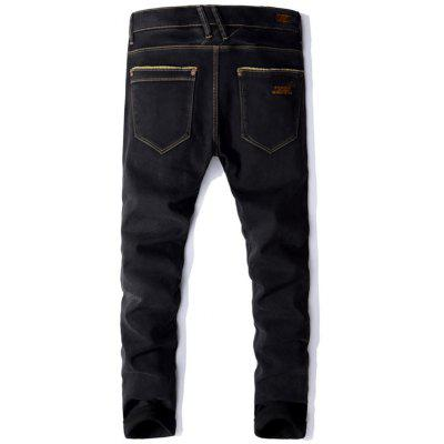 Embroidery Pocket Zip Fly Flocking JeansMens Pants<br>Embroidery Pocket Zip Fly Flocking Jeans<br><br>Closure Type: Zipper Fly<br>Fit Type: Regular<br>Material: Cotton, Spandex, Rayon, Polyester<br>Package Contents: 1 x Jeans<br>Pant Length: Long Pants<br>Waist Type: Mid<br>Wash: Medium<br>Weight: 0.8200kg<br>With Belt: No