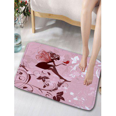 Fairy Print Flannel Skidproof Bathroom Rug