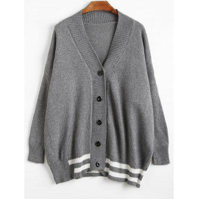 Tunic Button Up Sweater Cardigan