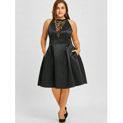 Plus Size Lace Insert Sleeveless Swing DressPlus Size Dresses<br>Plus Size Lace Insert Sleeveless Swing Dress<br><br>Dresses Length: Knee-Length<br>Embellishment: Lace<br>Material: Polyester<br>Neckline: Round Collar<br>Package Contents: 1 x Dress<br>Pattern Type: Floral<br>Season: Fall, Spring<br>Silhouette: A-Line<br>Sleeve Length: Sleeveless<br>Style: Vintage<br>Weight: 0.4700kg<br>With Belt: No