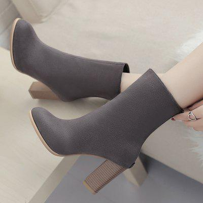 High Heel Almond Toe BootsWomens Boots<br>High Heel Almond Toe Boots<br><br>Boot Height: Mid-Calf<br>Boot Tube Circumference: 27CM<br>Boot Tube Height: 15CM<br>Boot Type: Fashion Boots<br>Closure Type: Zip<br>Gender: For Women<br>Heel Height: 8.5CM<br>Heel Height Range: High(3-3.99)<br>Heel Type: Chunky Heel<br>Package Contents: 1 x Boots (pair)<br>Pattern Type: Solid<br>Season: Spring/Fall, Winter<br>Shoe Width: Medium(B/M)<br>Toe Shape: Round Toe<br>Upper Material: PU<br>Weight: 1.3800kg