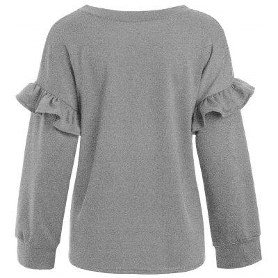 Ruffled Long Sleeve Tunic T-shirtBlouses<br>Ruffled Long Sleeve Tunic T-shirt<br><br>Collar: Round Neck<br>Material: Polyester, Spandex<br>Package Contents: 1 x T-shirt<br>Pattern Type: Solid<br>Season: Fall, Spring<br>Shirt Length: Regular<br>Sleeve Length: Full<br>Style: Fashion<br>Weight: 0.3600kg