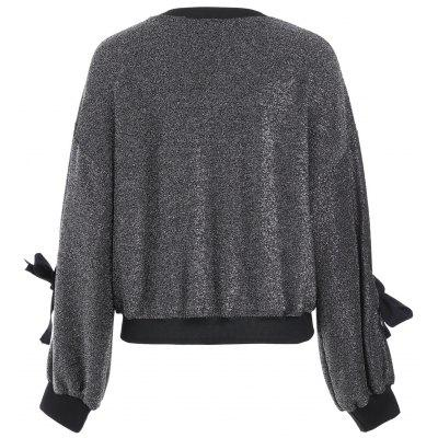 Puff Sleeve Drop Shoulder Sparkly TopBlouses<br>Puff Sleeve Drop Shoulder Sparkly Top<br><br>Collar: Crew Neck<br>Material: Polyester<br>Package Contents: 1 x Top<br>Pattern Type: Patchwork<br>Season: Fall, Spring<br>Shirt Length: Regular<br>Sleeve Length: Full<br>Style: Fashion<br>Weight: 0.3300kg
