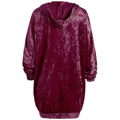 Velvet Drop Shoulder Kangaroo Pocket HoodieSweatshirts &amp; Hoodies<br>Velvet Drop Shoulder Kangaroo Pocket Hoodie<br><br>Material: Polyester<br>Package Contents: 1 x Hoodie<br>Pattern Style: Solid<br>Season: Spring, Winter, Fall<br>Shirt Length: Long<br>Sleeve Length: Full<br>Style: Casual<br>Weight: 0.4600kg