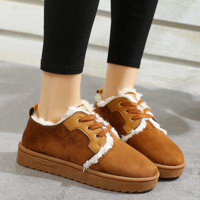 Lace Up Color Block Ankle BootsWomens Boots<br>Lace Up Color Block Ankle Boots<br><br>Boot Height: Ankle<br>Boot Type: Fashion Boots<br>Closure Type: Lace-Up<br>Gender: For Women<br>Heel Height Range: Low(0.75-1.5)<br>Heel Type: Low Heel<br>Package Contents: 1 x Boots (pair)<br>Pattern Type: Patchwork<br>Season: Spring/Fall, Winter<br>Shoe Width: Medium(B/M)<br>Toe Shape: Round Toe<br>Upper Material: Fur,Suede<br>Weight: 1.1200kg