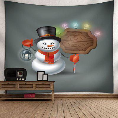 Snowman and Colored Bulbs Printed Waterproof Wall TapestryBlankets&amp; Throws<br>Snowman and Colored Bulbs Printed Waterproof Wall Tapestry<br><br>Feature: Removable, Washable, Waterproof<br>Material: Velvet<br>Package Contents: 1 x Tapestry<br>Shape/Pattern: Snowman<br>Style: Festival<br>Theme: Christmas<br>Weight: 0.3900kg