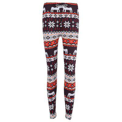 Skinny Christmas Elk Snowflake Print LeggingsPants<br>Skinny Christmas Elk Snowflake Print Leggings<br><br>Material: Polyester, Spandex<br>Package Contents: 1 x Leggings<br>Pattern Type: Print<br>Style: Fashion<br>Waist Type: High<br>Weight: 0.2500kg
