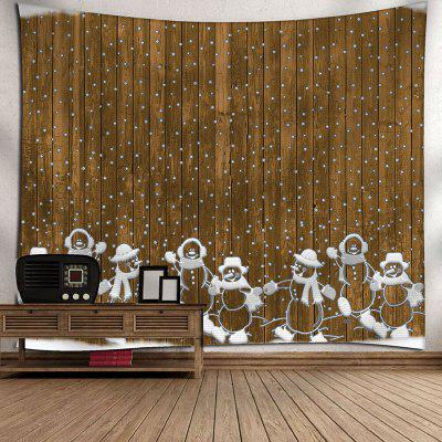 Christmas Wooden and Snowman Printed Waterproof Wall TapestryBlankets&amp; Throws<br>Christmas Wooden and Snowman Printed Waterproof Wall Tapestry<br><br>Feature: Removable, Washable, Waterproof<br>Material: Velvet<br>Package Contents: 1 x Tapestry<br>Shape/Pattern: Snowman,Wood<br>Style: Festival<br>Theme: Christmas<br>Weight: 0.2600kg