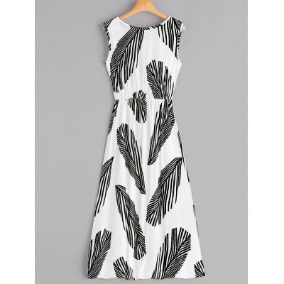 Sleeveless Leaf Print Midi DressWomens Dresses<br>Sleeveless Leaf Print Midi Dress<br><br>Dresses Length: Mid-Calf<br>Material: Polyester<br>Neckline: Scoop Neck<br>Occasion: Causal<br>Package Contents: 1 x Dress<br>Pattern Type: Print<br>Season: Summer, Fall<br>Silhouette: A-Line<br>Sleeve Length: Sleeveless<br>Style: Casual<br>Weight: 0.2500kg<br>With Belt: No