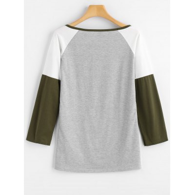 Contrast Deer Print Raglan Sleeve TeeTees<br>Contrast Deer Print Raglan Sleeve Tee<br><br>Collar: Round Neck<br>Material: Polyester<br>Package Contents: 1 x Tee<br>Pattern Type: Deer<br>Sleeve Length: Full<br>Style: Casual<br>Weight: 0.2600kg
