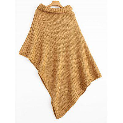 Cape Asymmetrical Turtleneck Pullover SweaterSweaters &amp; Cardigans<br>Cape Asymmetrical Turtleneck Pullover Sweater<br><br>Collar: Turtleneck<br>Material: Acrylic, Cotton, Polyester<br>Package Contents: 1 x Sweater<br>Pattern Type: Solid<br>Sleeve Length: Full<br>Style: Fashion<br>Type: Pullovers<br>Weight: 0.7800kg