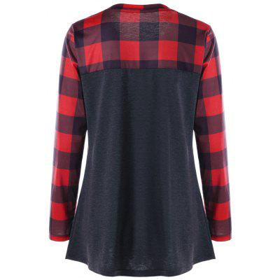 Plus Size Patch Pocket Plaid T-shirtPlus Size Tops<br>Plus Size Patch Pocket Plaid T-shirt<br><br>Collar: Round Neck, Round Neck<br>Material: Spandex, Spandex, Polyester<br>Package Contents: 1 x T-shirt, 1 x T-shirt<br>Pattern Type: Plaid, Plaid<br>Season: Spring, Spring, Fall, Fall<br>Shirt Length: Long, Long<br>Sleeve Length: Full, Full<br>Style: Casual, Casual<br>Weight: 0.3400kg, 0.3400kg