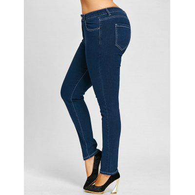 Plus Size Zip Up Stretch JeansPlus Size Bottoms<br>Plus Size Zip Up Stretch Jeans<br><br>Closure Type: Zipper Fly<br>Embellishment: Pockets<br>Fit Type: Skinny<br>Length: Ninth<br>Material: Jeans<br>Package Contents: 1 x Jeans<br>Pant Style: Pencil Pants<br>Pattern Type: Solid<br>Style: Fashion<br>Waist Type: High<br>Weight: 0.6200kg