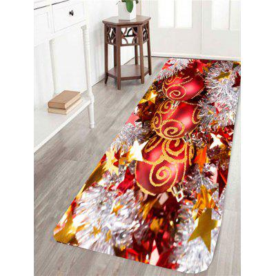 Christmas Baubles Printed Antislip Rug