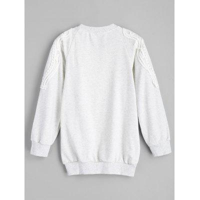 Crochet Panel Gym SuitSweatshirts &amp; Hoodies<br>Crochet Panel Gym Suit<br><br>Material: Polyester<br>Package Contents: 1 x Top  1 x Pants<br>Pattern Style: Others<br>Shirt Length: Regular<br>Sleeve Length: Full<br>Weight: 0.7200kg