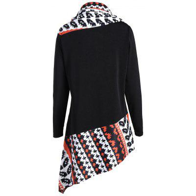 Cowl Neck Asymmetrical Graphic T-shirtBlouses<br>Cowl Neck Asymmetrical Graphic T-shirt<br><br>Collar: Cowl Neck<br>Embellishment: Button<br>Material: Polyester<br>Package Contents: 1 x T-shirt<br>Pattern Type: Print<br>Season: Fall, Spring<br>Shirt Length: Long<br>Sleeve Length: Full<br>Style: Casual<br>Weight: 0.4000kg