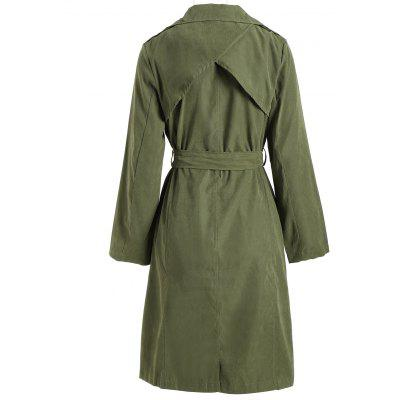 Wrap Back Slit Trench CoatJackets &amp; Coats<br>Wrap Back Slit Trench Coat<br><br>Clothes Type: Trench<br>Collar: Lapel<br>Material: Polyester<br>Package Contents: 1 x Coat  1 x Belt<br>Pattern Type: Solid<br>Season: Fall, Spring<br>Shirt Length: Long<br>Sleeve Length: Full<br>Style: Fashion<br>Type: Slim<br>Weight: 0.4000kg<br>With Belt: Yes