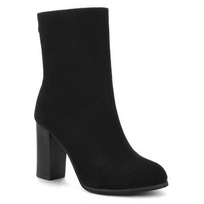 High Heel Almond Toe Boots