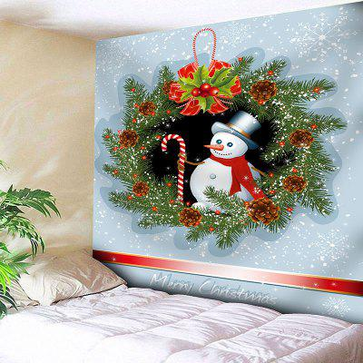 Flowers Christmas Snowman Printed Wall Hanging Tapestry