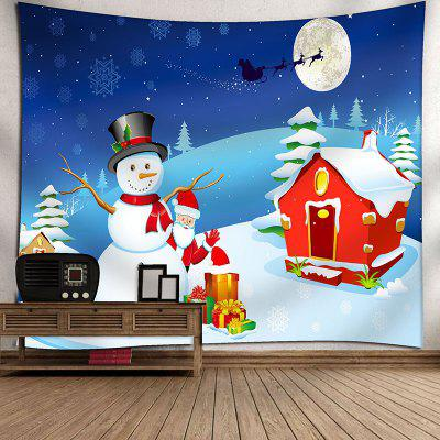 Christmas Characters Printed Waterproof Wall Hanging Tapestry