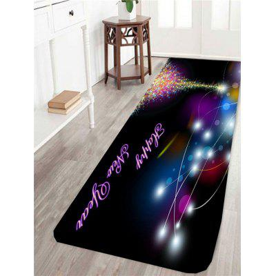 Starlight Christmas Tree Pattern Anti Skid Rug