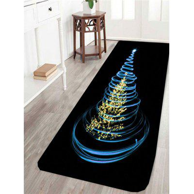 Rotating Christmas Tree Pattern Skidproof Rug