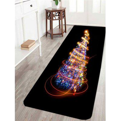 Colorful Lighting Christmas Tree Pattern Skidproof Rug