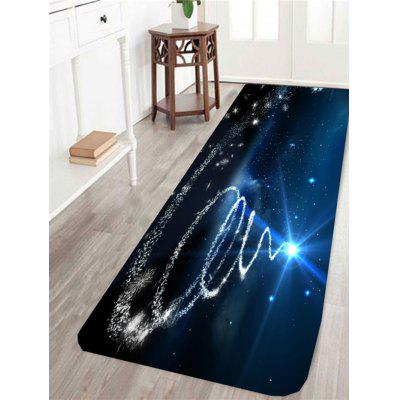 Blue Starlight Christmas Tree Printed Skidproof Rug