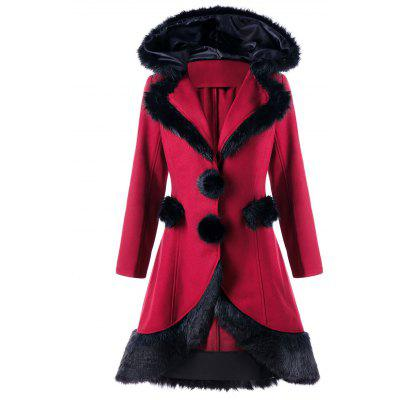 Faux Fur Panel Lace Up Hooded Longline CoatJackets &amp; Coats<br>Faux Fur Panel Lace Up Hooded Longline Coat<br><br>Closure Type: Single Breasted<br>Clothes Type: Wool &amp; Blends<br>Collar: Hooded<br>Material: Polyester, Faux Fur<br>Package Contents: 1 x Coat<br>Pattern Type: Others<br>Season: Fall, Winter<br>Shirt Length: Long<br>Sleeve Length: Full<br>Style: Fashion<br>Type: Asymmetric Length<br>Weight: 1.0700kg<br>With Belt: No