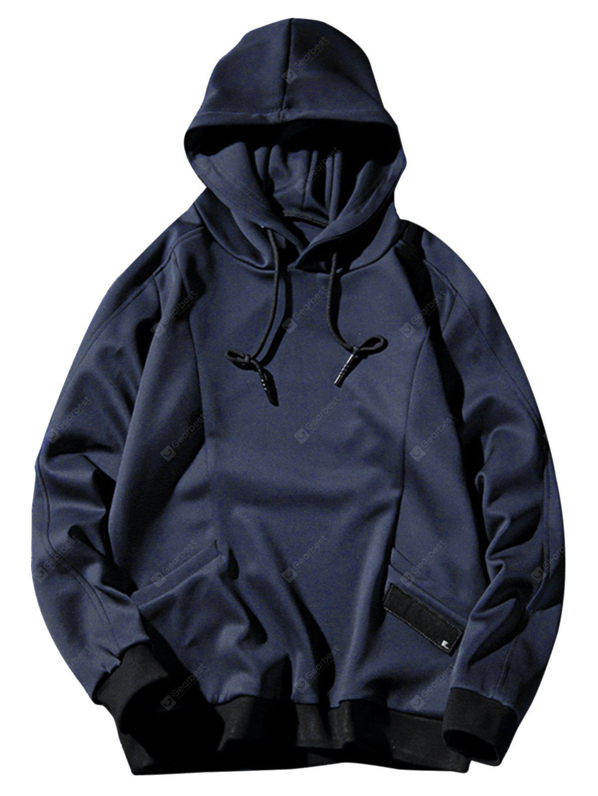 Two Pockets Sports Casual Pullover Hoodie