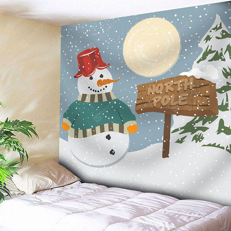 Waterproof Christmas Snowfield Snowman Printed Wall Art Tapestry