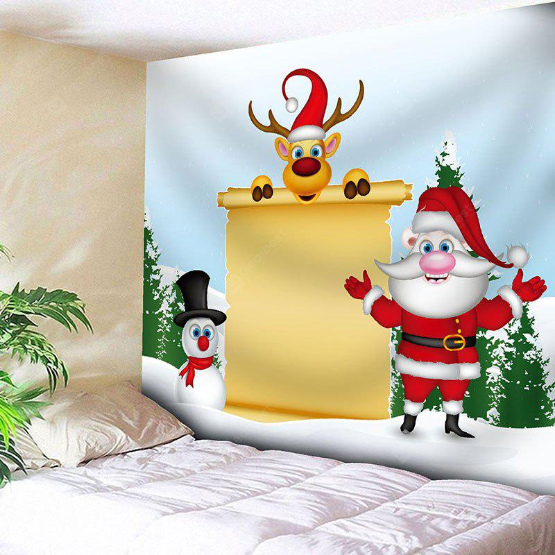 Christmas Letter Paper Printed Waterproof Wall Hanging Tapestry