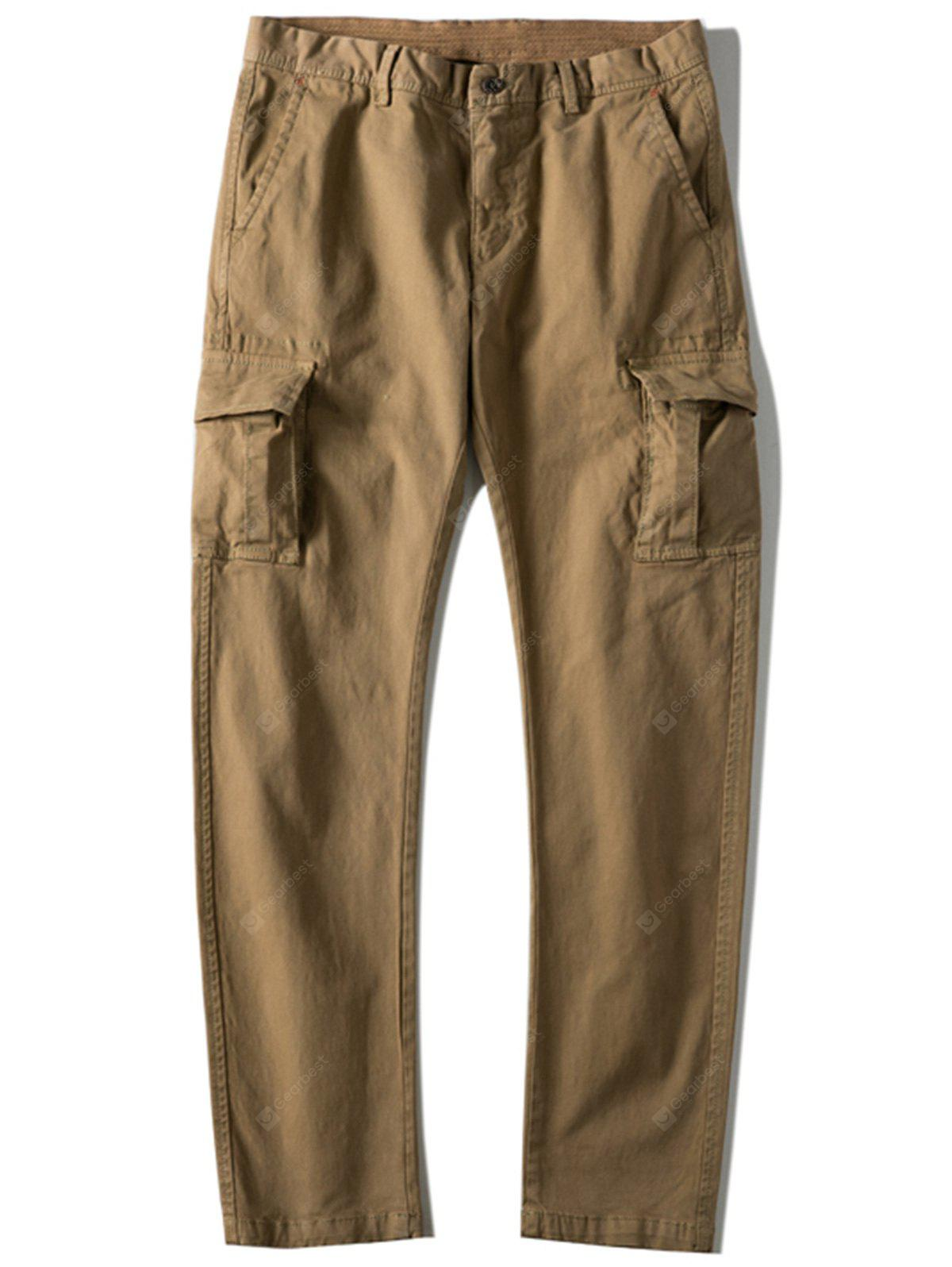 Multi-pocket Slim Fit Cargo Pants