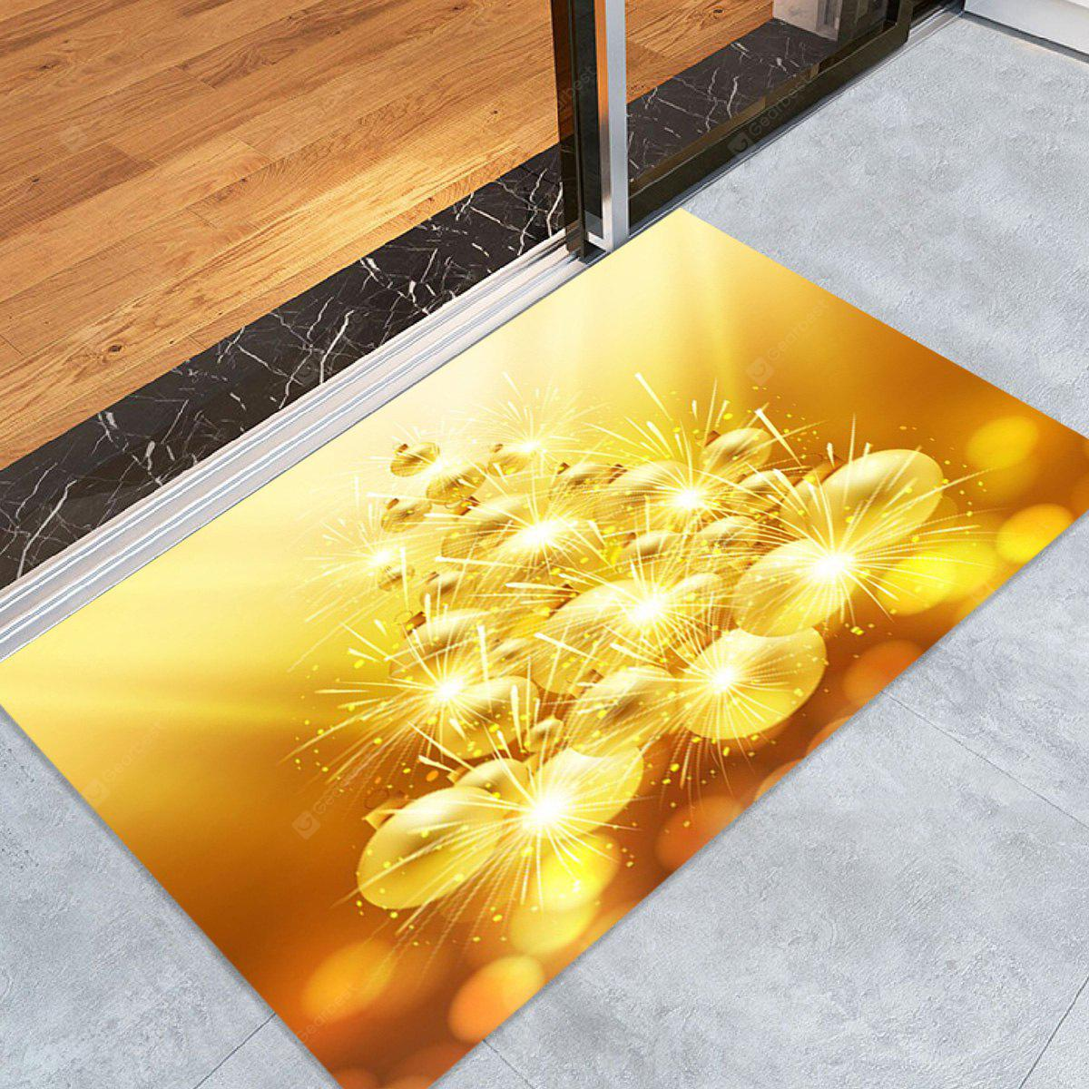 Baubles Christmas Pattern Water Absorption Area Rug