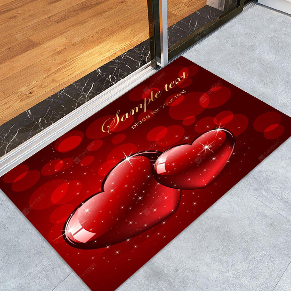 Christmas Hearts Pattern Water Absorption Area Rug