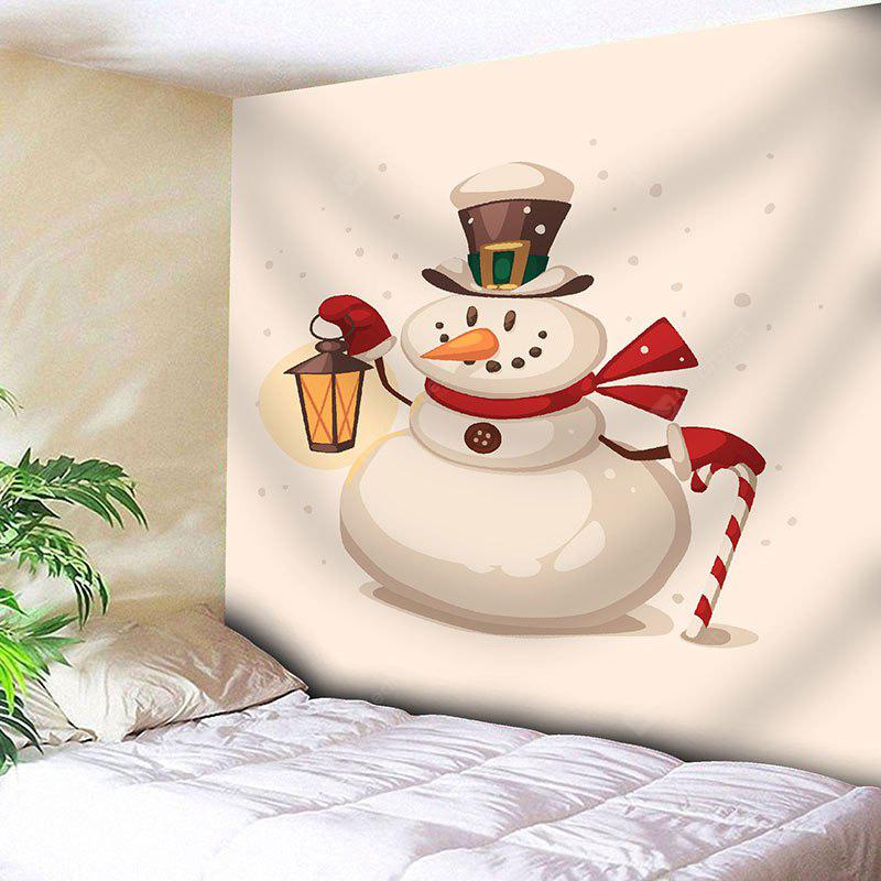 Funny Christmas Snowman Printed Waterproof Wall Art Tapestry