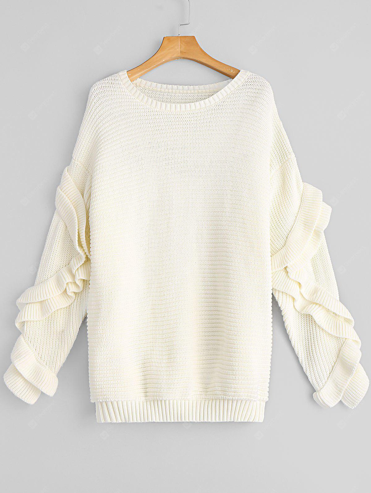 Ruffles Oversized Pullover Sweater