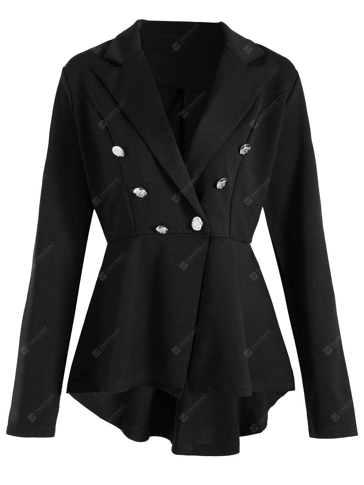 Skirted High Low Lapel Jacket