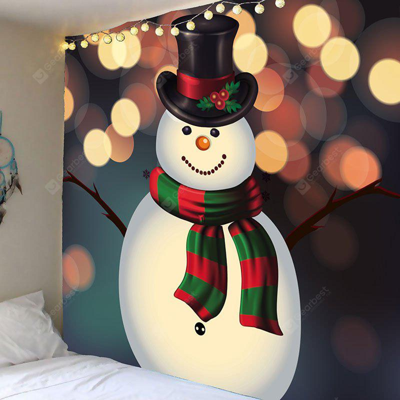 Wall Art Christmas Snowman Patterned Tapestry