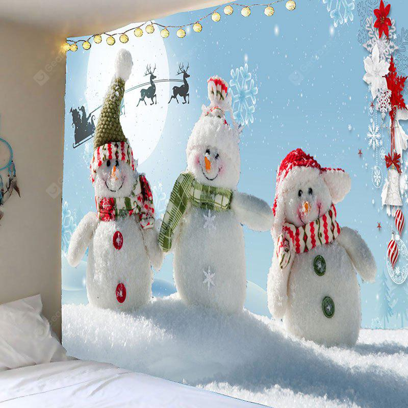 Christmas Snowman Family Pattern Wall Art Tapestry