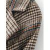 Checked Slit Belted Wool Blend Coat - CHECKED