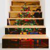 Christmas Tree Gifts Pattern Decorative Stair Decals - COLORFUL