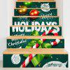 Christmas Candy Cane Pattern Decorative Stair Decals - COLORFUL