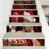 Christmas Dog Cat Pattern Decorative Stair Decals - COLORFUL