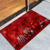 Christmas Balls Pattern Skidproof Coral Fleece Bath Mat - RED