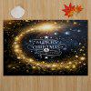 Merry Christmas Letter Print Fleece Nonslip Sparkling Bath Rug - COLORMIX