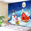 Christmas Characters Printed Waterproof Wall Hanging Tapestry - COLORFUL