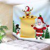 Christmas Letter Paper Printed Waterproof Wall Hanging Tapestry - COLORFUL