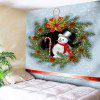 Flowers Christmas Snowman Printed Wall Hanging Tapestry - COLORFUL